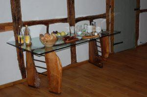 Frühstücksbuffet der Pension Weidenbaum und Wildhecke