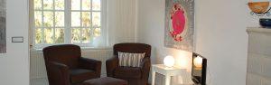 Zimmer Abendsonne der Pension Weidenbaum und Wildhecke